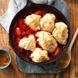 Cherry-Peach Dumplings