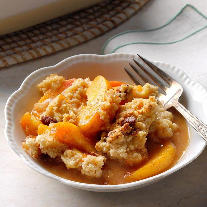 Lime & Spice Peach Cobbler