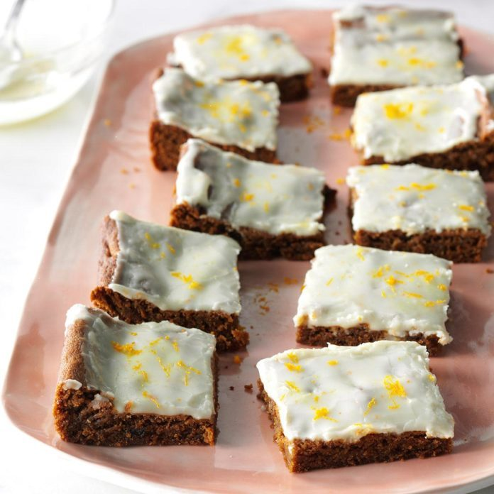 Glazed Ginger Bars
