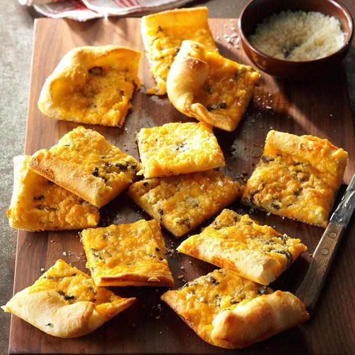 Garlic-Cheese Flat Bread