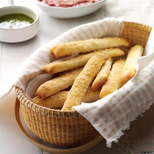 Soft Sesame Breadsticks