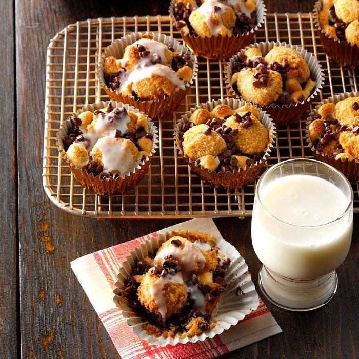 S'mores Monkey Bread Muffins