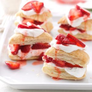 Strawberry Shortcake Puffs