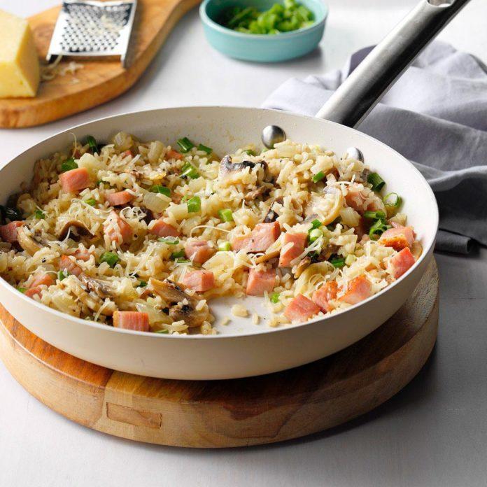 Make: Skillet Ham & Rice