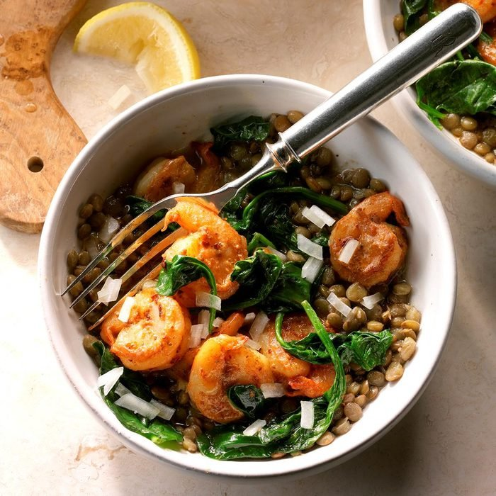 Day 19: East Coast Shrimp and Lentil Bowls