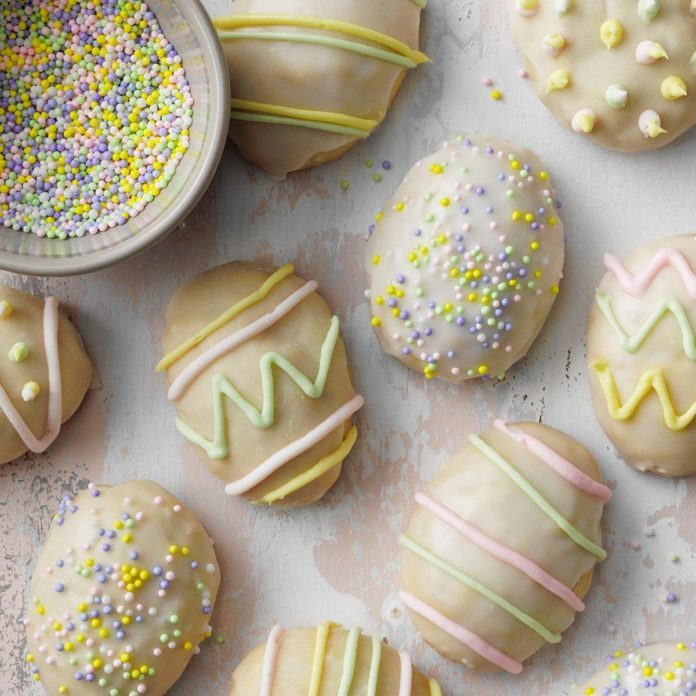 Decorate Easter Egg Cookies