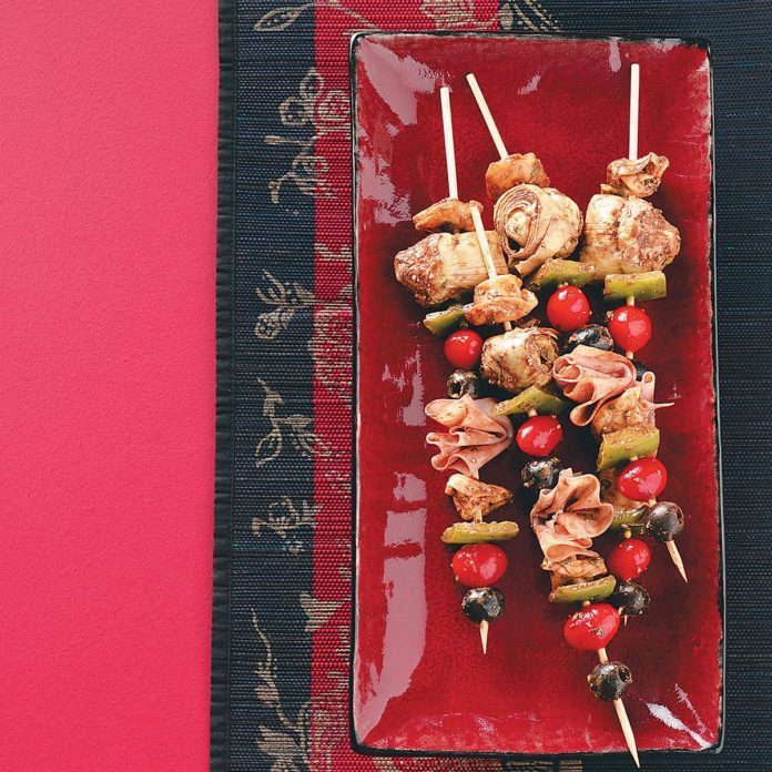 Easy Antipasto Kabobs