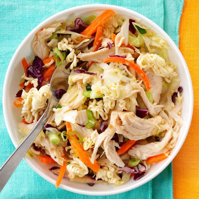 Easy Asian Style Chicken Slaw Exps165287 Th143191b11 26 7bc Rms 4