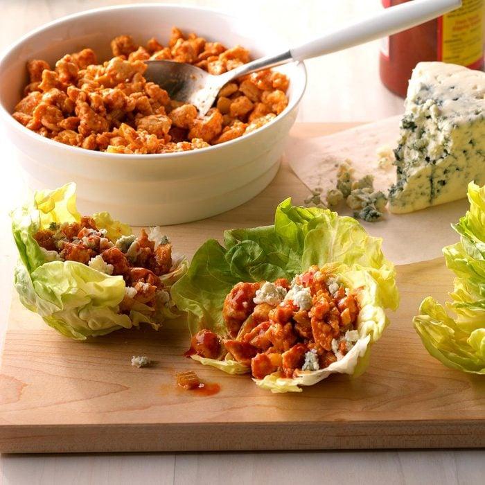 Day 20: Easy Buffalo Chicken Lettuce Wraps