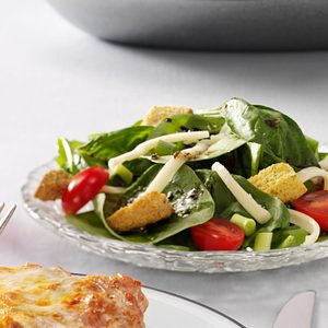 Easy Italian Spinach Salad