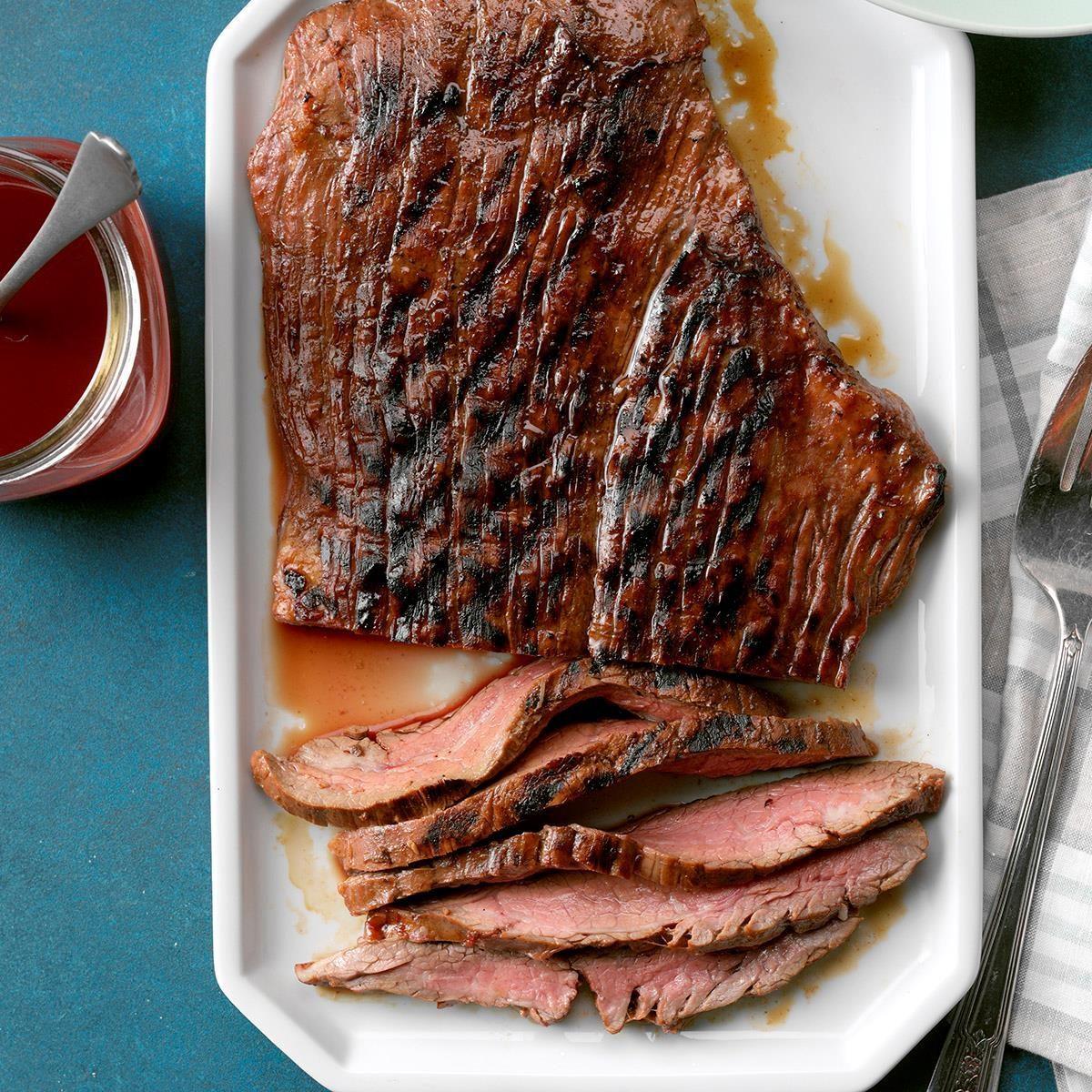 Easy Marinated Grilled Flank Steak Recipe Taste Of Home