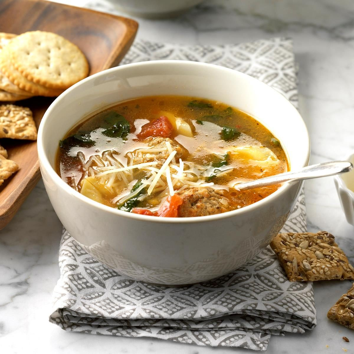 Texas: Easy Tortellini Spinach Soup