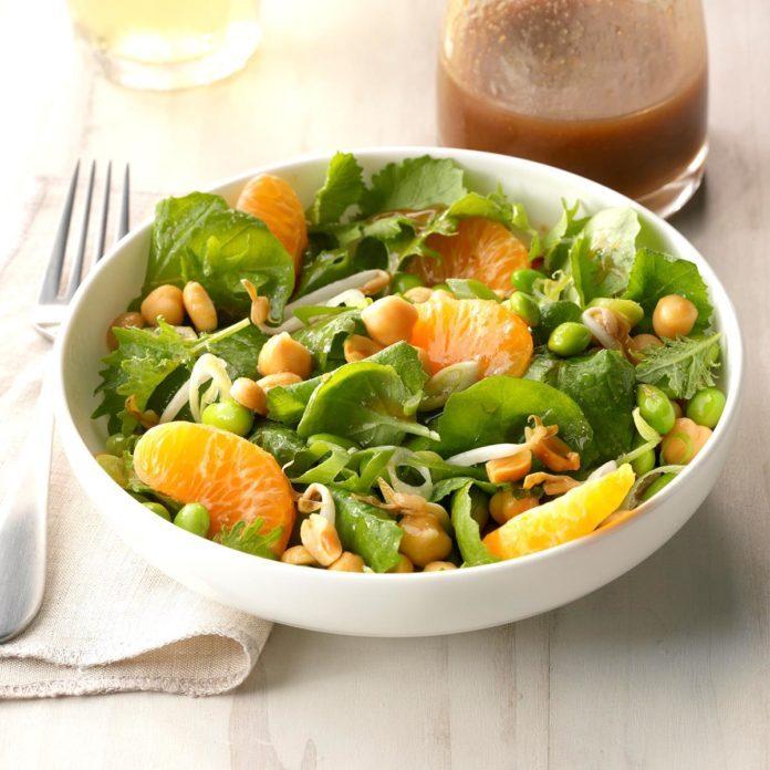 Edamame Salad with Sesame Ginger Dressing