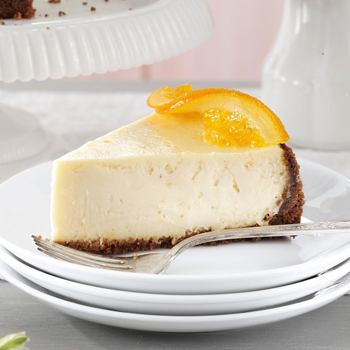 Elegant Orange Blossom Cheesecake