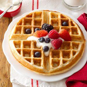 Family-Favorite Oatmeal Waffles