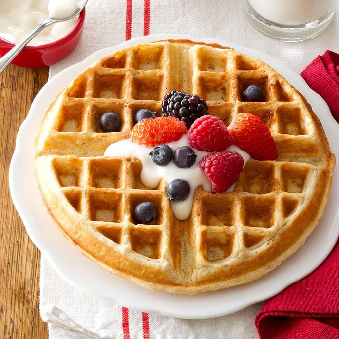Family-Favorite Oatmeal Waffles