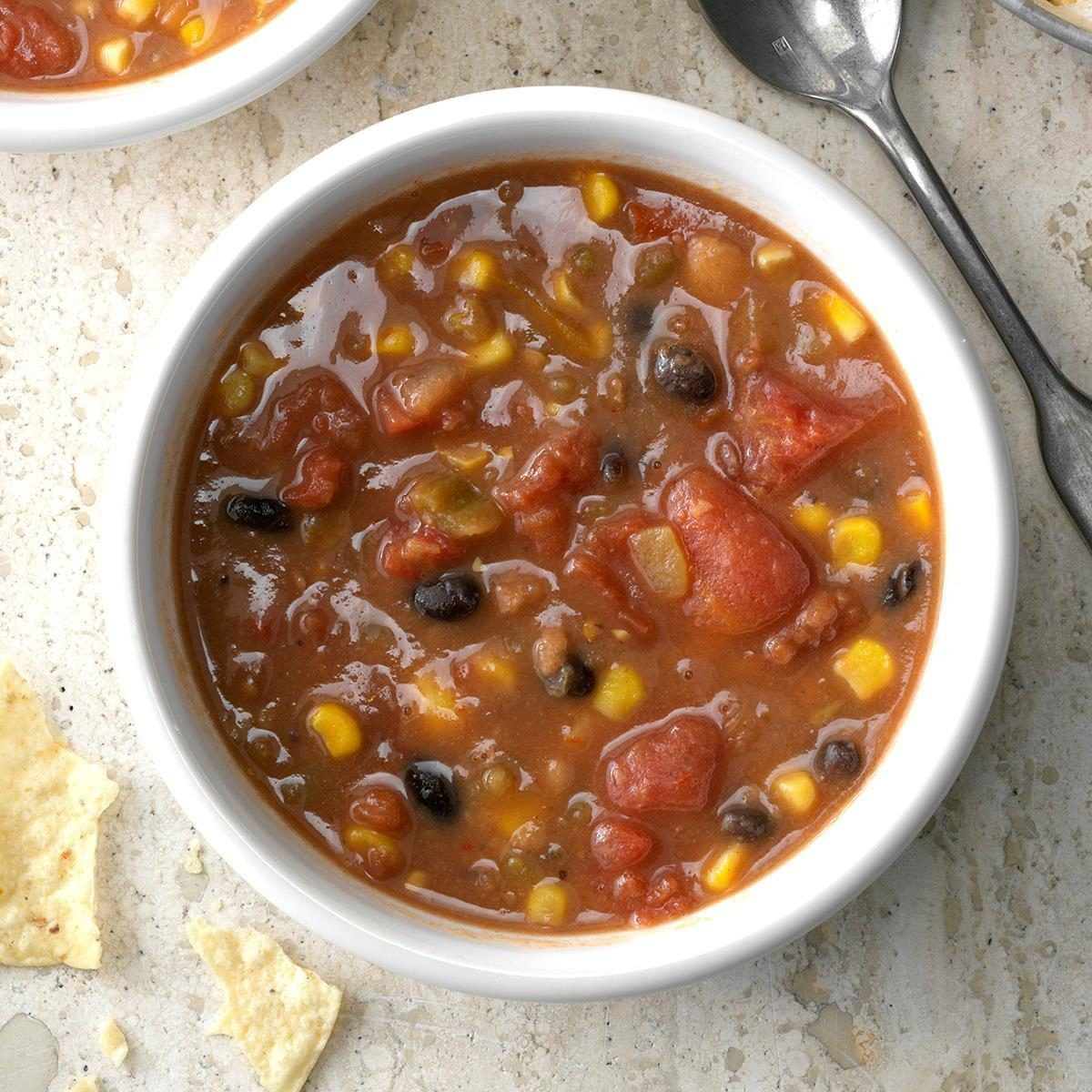 Fast Refried Bean Soup Recipe How To Make It Taste Of Home