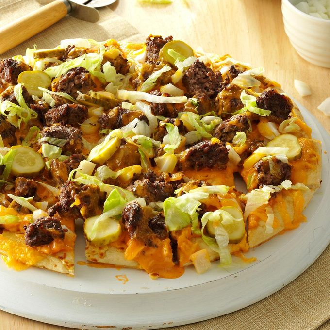 Inspired By: BBQ Bacon Cheeseburger Pizza