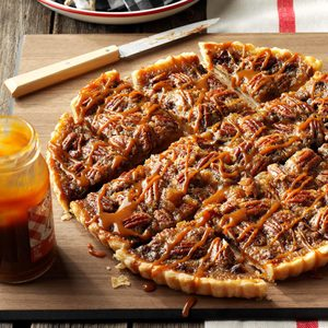 Favorite Chocolate-Bourbon Pecan Tart