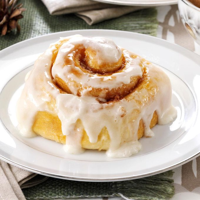 Favorite Frosted Cinnamon Rolls