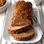 Festive Meat Loaf Pinwheel