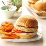 Feta-Dill Chicken Burgers