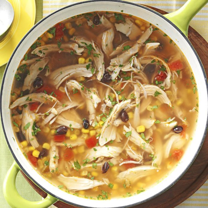 Fiesta Turkey Tortilla Soup