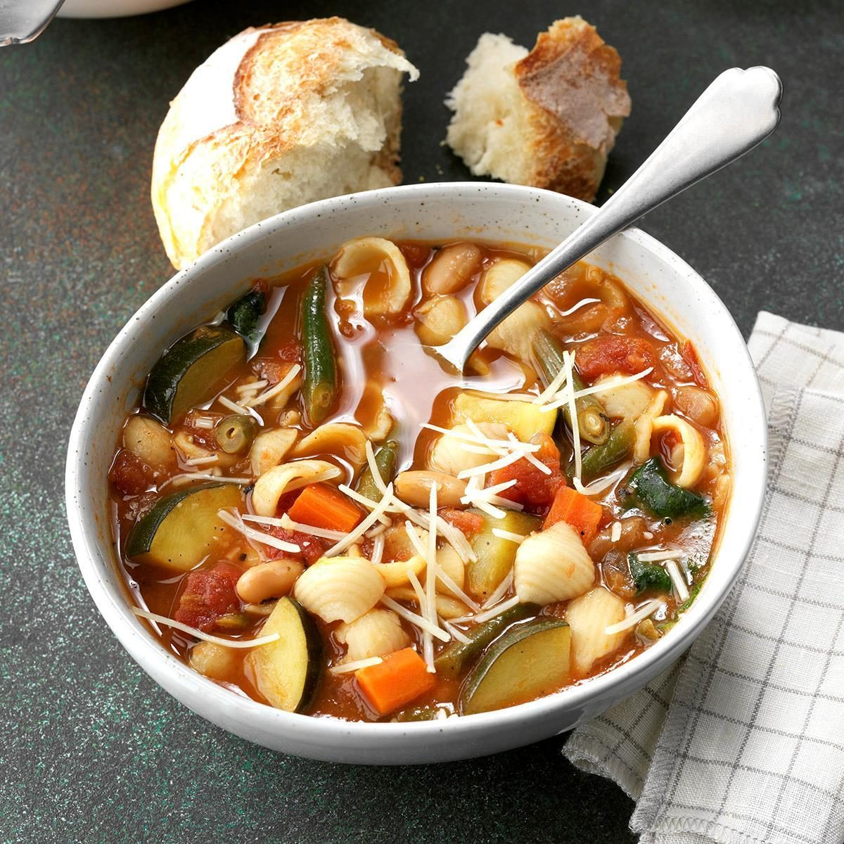 Fire-Roasted Tomato Minestrone