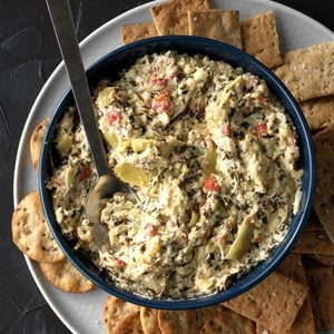 Five-Cheese Spinach & Artichoke Dip