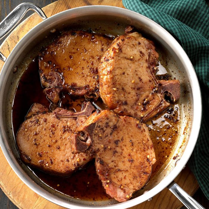 Runner-Up: Five-Spice Glazed Smoked Chops