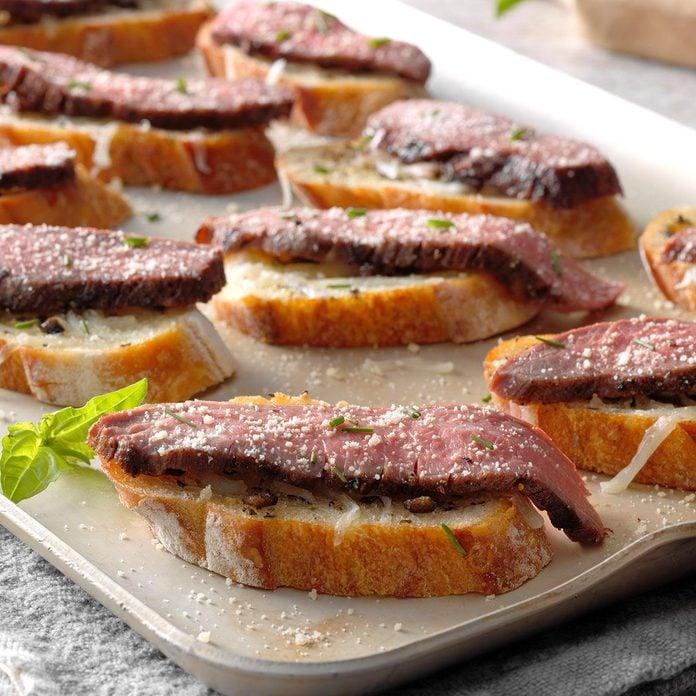 Wyoming: Flank Steak Crostini