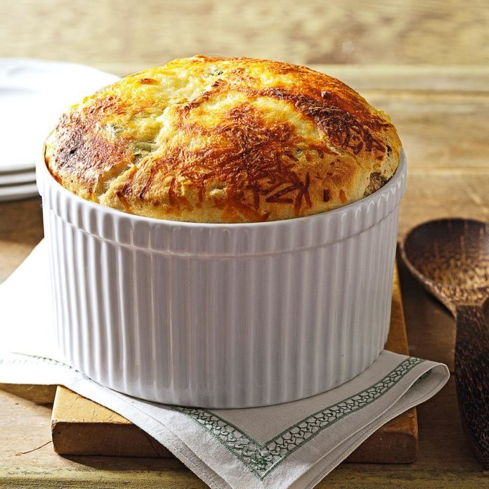 Inspired by: Spinach & Bacon Souffle