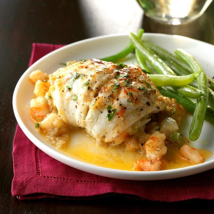 New Jersey: Flounder with Shrimp Stuffing