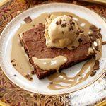 Flourless Chocolate Cake with Peanut Butter Ice Cream