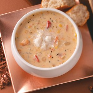 Fontina-Vegetable Crab Soup