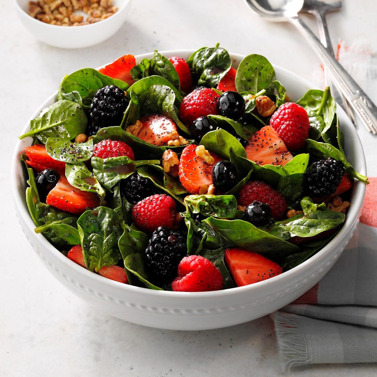 Four-Berry Spinach Salad