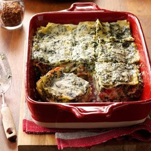 Four-Cheese Spinach Lasagna