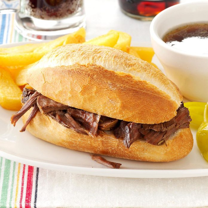Inspired by French Dip Sandwich at Schlotsky's