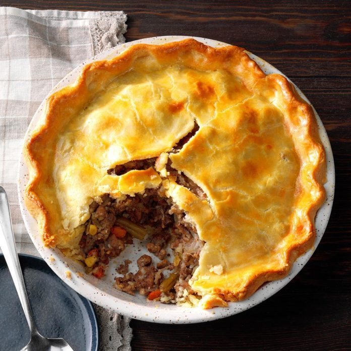 French Meat and Vegetable Pie