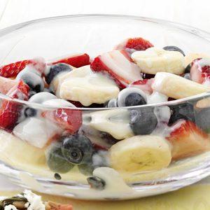 Fresh Berries with Lemon Yogurt