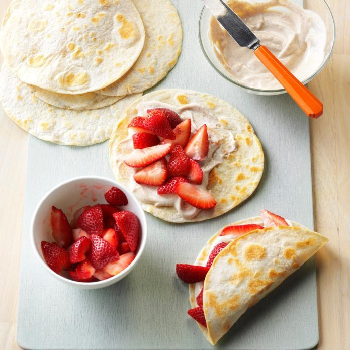 Fresh Strawberry Breakfast Tacos