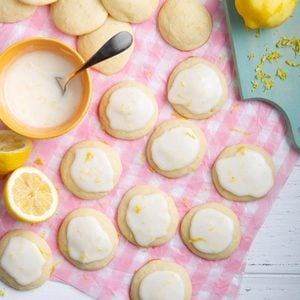 Frosted Lemon-Ricotta Cookies
