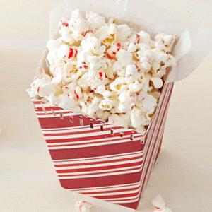Frosty Peppermint Popcorn