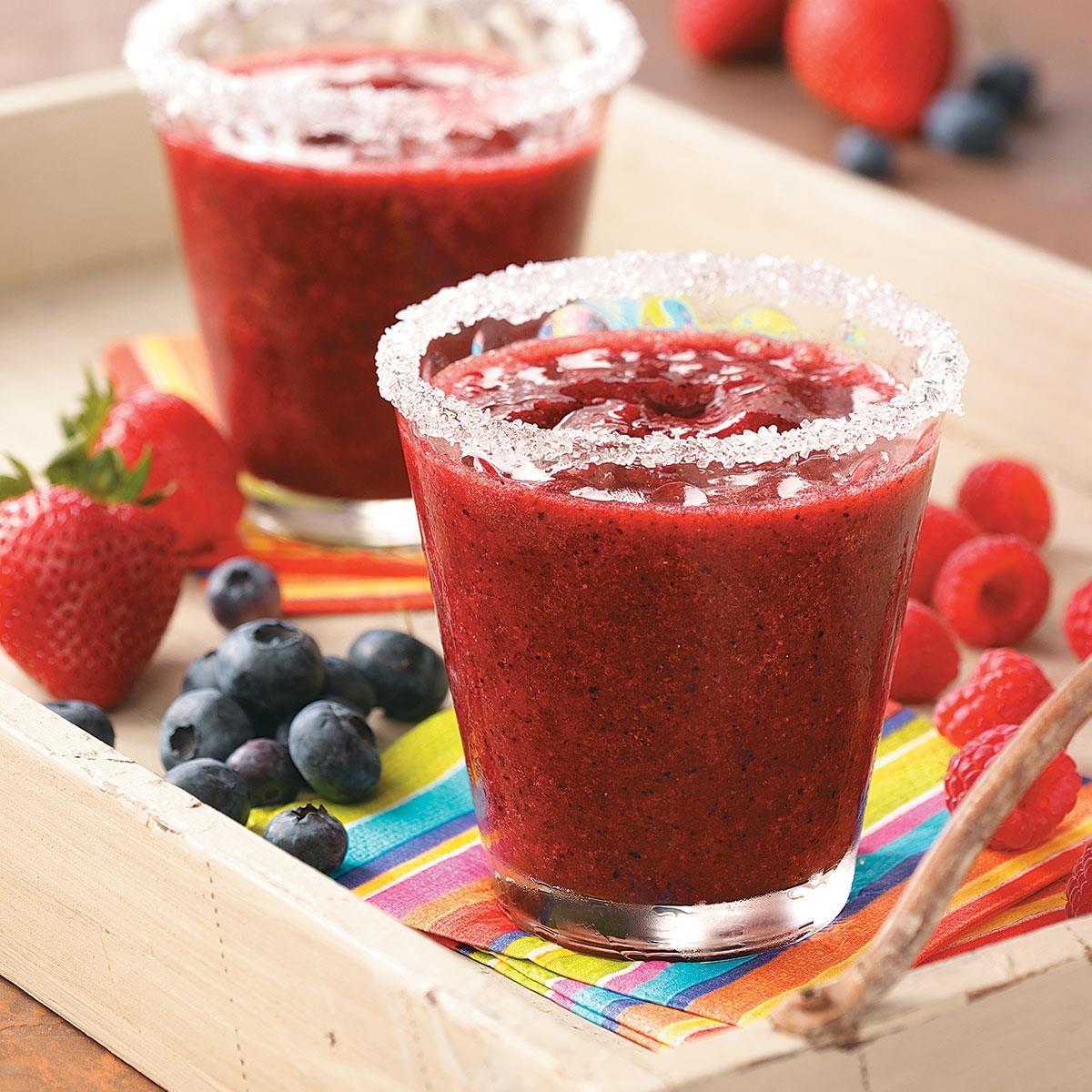 Frozen Lemon-Berry Margaritas