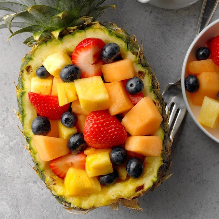 Fruit Salad in a Pineapple Boat