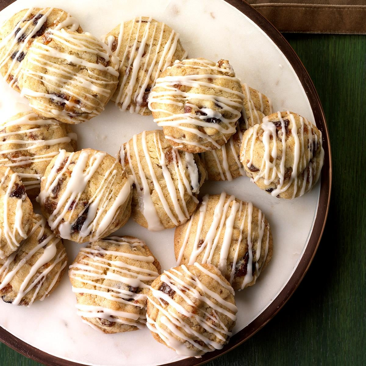 Fruitcake Cookies with Rum Glaze