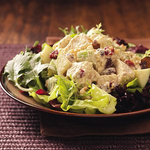 Fruited Curry Turkey Salad for Two