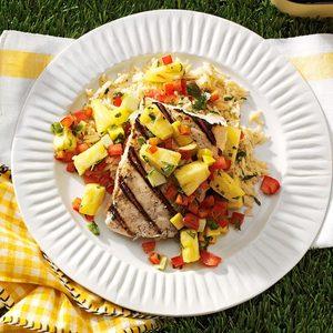 Fruity Halibut Steaks
