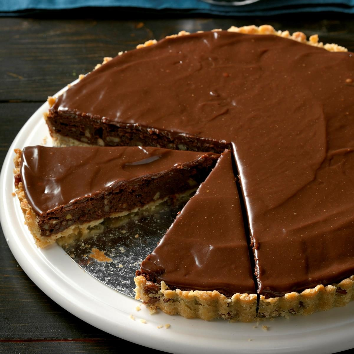Fudge Pecan Brownie Tart