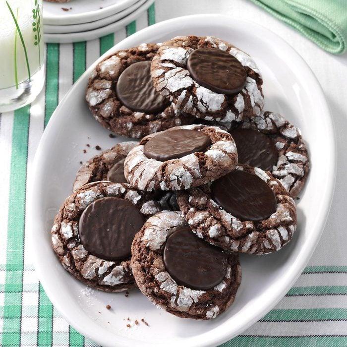 Fudgy Mint Cookies